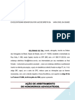 Acao Arbitramento Honorarios Contrato Verbal PN683