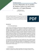 La Enseñanza de La Matemática de Los Pueblos Indigenas de America Latina en El Marco de La Gobalizacion y El Capital Humano