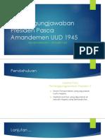 Pola Pertanggungjawaban Presiden Pasca Amandemen UUD 1945