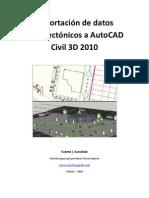 Importacion de Datos Arquitectonicos en AutoCAD Civil 3D 2010