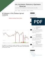 El Volumen o VSA (Volume Spread Analysis) - Trading de Forex, Acciones, Futuros y Opciones Binarias