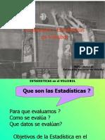 Estadisticas y evaluacion en Voleibol