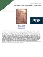 O Diário de John Wesley O Pai Do Metodismo