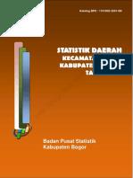 Statistik Daerah Ciawi 2016
