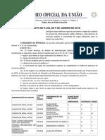 DECRETO No 9.262, De 9 de JANEIRO de 2018 - Diário Oficial Da União - Imprensa Nacional