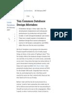 Ten Common Database Design Mistakes - Simple Talk