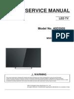 Service Manual 40D3505A