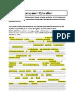 Transparent Education