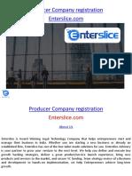 Producer Company Registration - Enterslice.com