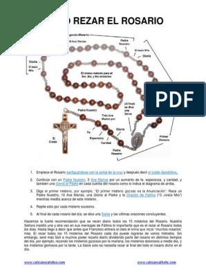 Cómo Rezar El Santo Rosario Pdf Rosario Orador Del Señor