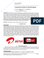 Sales Promotional Activities of Airtel Broadband