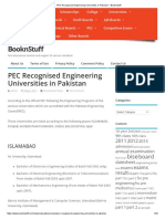 PEC Recognised Engineering Universities in Pakistan – BooknStuff