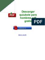 Descargar Quiubole Para Hombres PDF Gratis