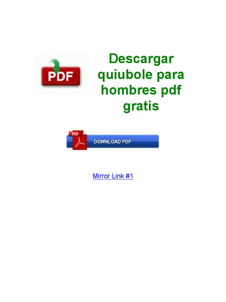 Quiubole Para Chavos Pdf Download