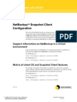 NETBACKUP Snapshot Client Configuration