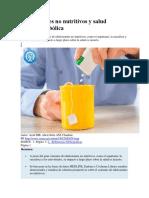 Edulcorantes No Nutritivos y Salud Cardiometabólica Articulos Intramed Muy Interesantes