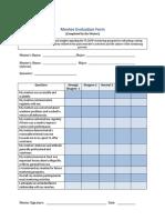 Mentee Evaluation Form