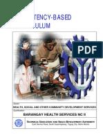 Barangay Health Services NC II