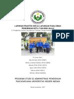 Laporan Praktek Kerja Lapangan Pada Dinas Pendidikan Kota Tanjung Balai