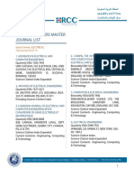 Electrical Isi Journals