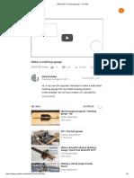 (162) Make a Marking Gauge - YouTube