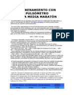 Entrenamiento Con Pulsómetro (Media Maraton)