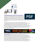Cara Memilih Agen Judi Online Dengan Tepat.docx