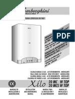 LAMBORGHINI Manuale Tecnico Caldaia Murale a Gas XILO 20 MC MCS W TOP