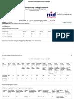 National Institutional Ranking Framework NIRF - 2016-17