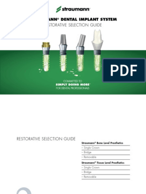 Straumann Catalogue Cementatble Abutments | Dental Implant