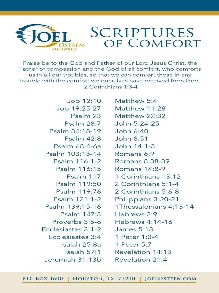 Comfort Scriptures pdf | Hebrew Bible | Old Testament People