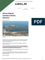 ¡Pícara Rebaja de Inversión en Puerto Salaverry!