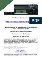 Blaupunkt Fiat Multipla Cc CD