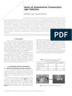 Deterioration Analysis of Automotive Connectors Used in High Mileage Vehicles