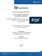 Wiener 013 Eap Farmacia y Bioquimica Cordova & Jimenez Sistema de Dosis Unitaria Clinica Internacional ( Jimenes y Cordova)