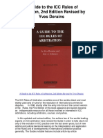 A Guide to the ICC Rules of Arbitration 2nd Edition Revised by Yves Derains - 5 Star Review