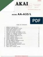 Manual de Serviço Akai Aa-A35l