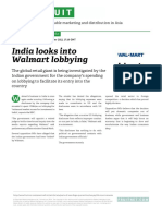 India Looks Into Walmart Lobbying