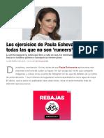 Paula Echevarría y sus ejercicios para todas las que no son 'runners'