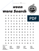 Halloween Vocabulary Esl Word Search Puzzle Worksheets for