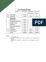 Fee Structure-ABVIIITM Gwalior