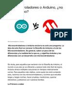 Microcontroladores o Arduino, ¿no es lo mismo? | Panama Hitek
