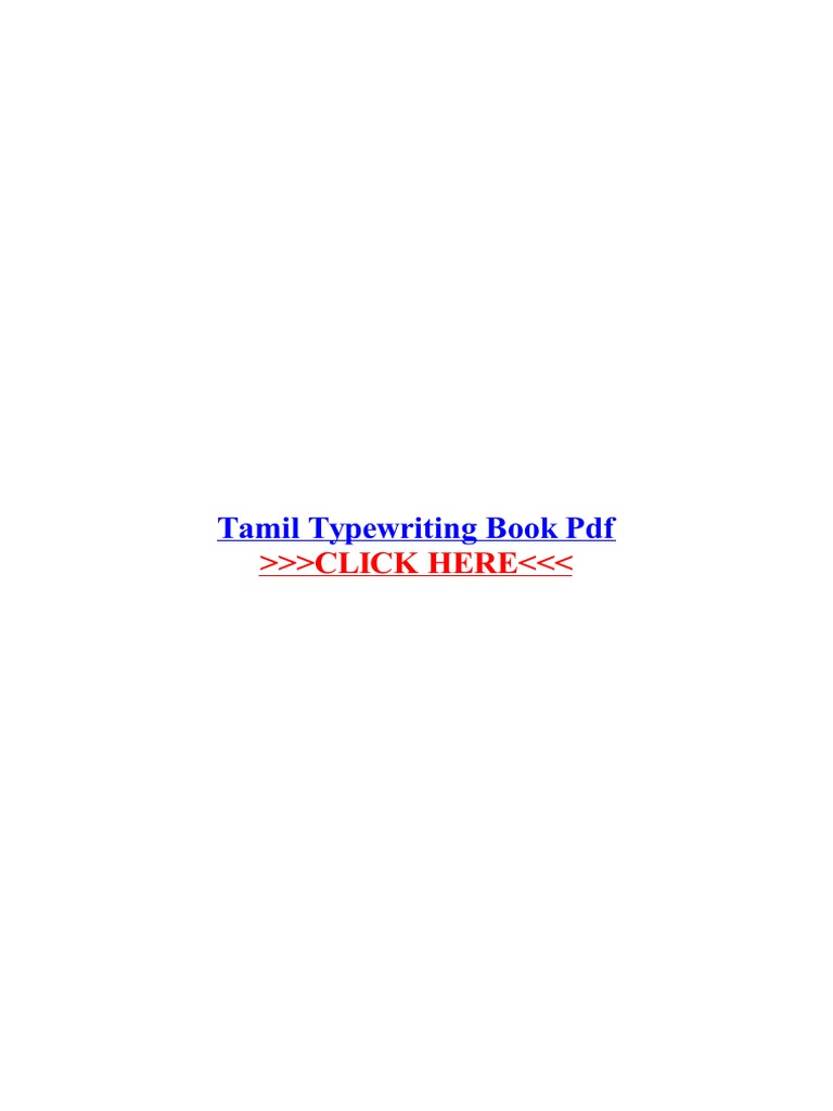 Tamil Typewriting Book PDF | Portable Document Format