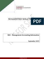 Ke2 Management Accounting Information Sep 2015 Tamil Answer