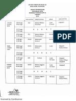 Jadual Percubaan UPSR Sekolah