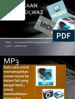 Perbezaan Mp3,Midi,Waz
