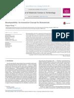 Bioadaptability an Innovative Concept for Biomaterials