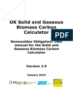 Renewables Obligation - Uk User Guide for the Solid and Gaseous Biomass Carbon Calculator