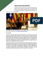 Catalunya votó, ¿Qué significa?
