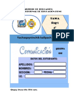 4° Eval  PROCESO Comunic Quechua